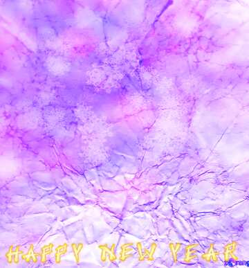 Bruchstück. Card with text Happy New Year.