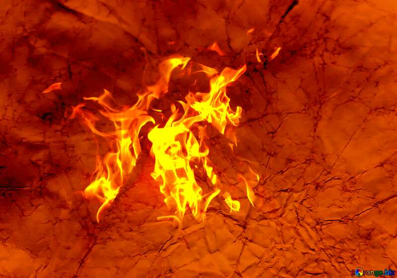 Red fire vintage paper texture №16030