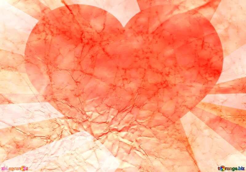 Vintage heart  paper texture №16030