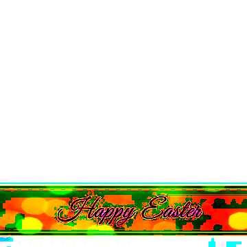 Inscription Happy Easter on bokeh ribbon
