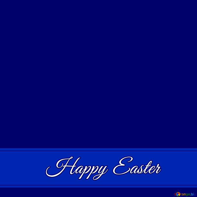 Blue card with Inscription Happy Easter     №49668