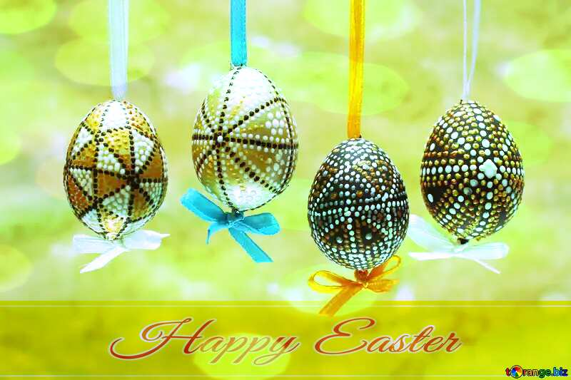 Easter background Happy Easter card write text background №29795