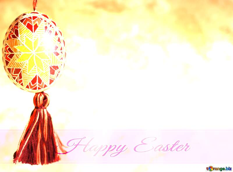 Easter composition with eggs on color spring sunrise background, space for text №29360