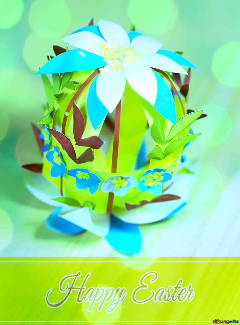 Easter crafts from paper Happy Easter card write text background №12269