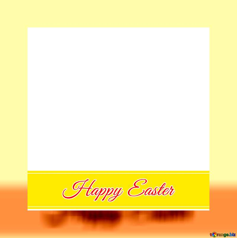 Frame with Inscription Happy Easter     №49668