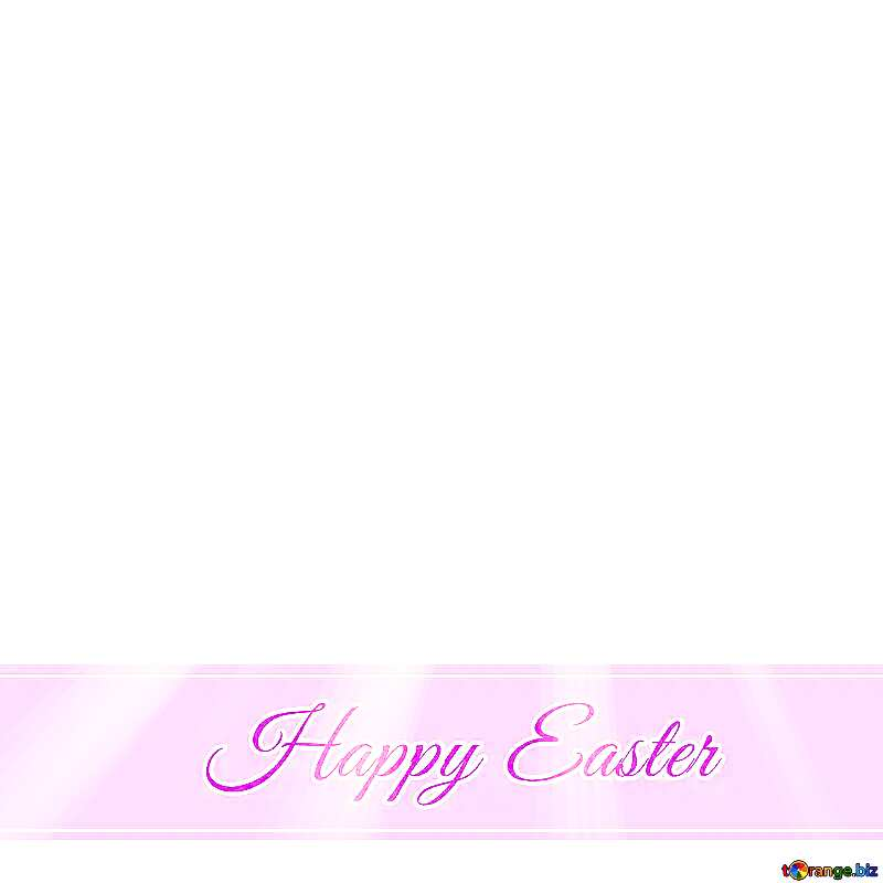 Happy Easter on pink ribbon №49668