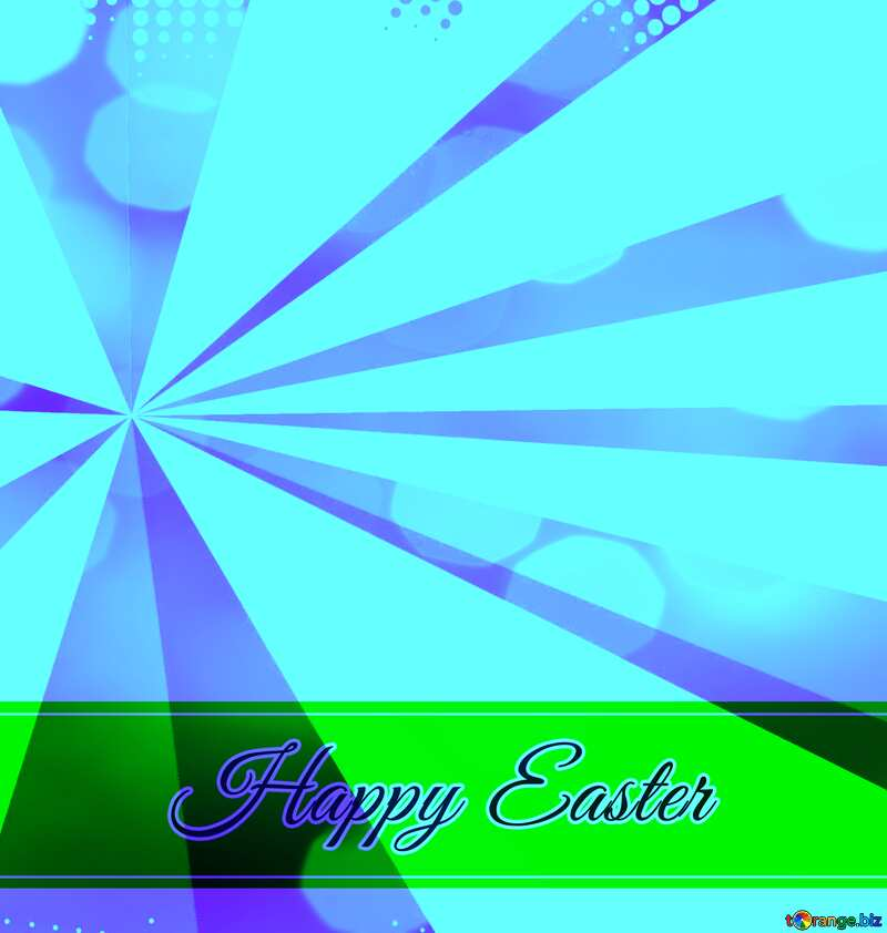 Inscription Happy Easter blue Colors rays №49668