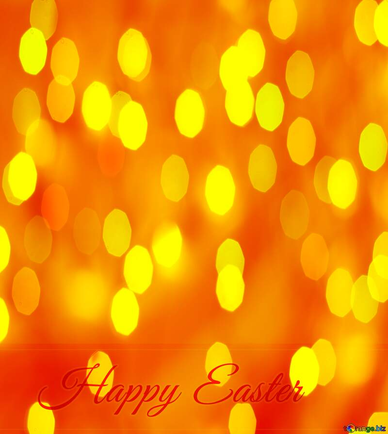 Inscription Happy Easter bokeh background №49668