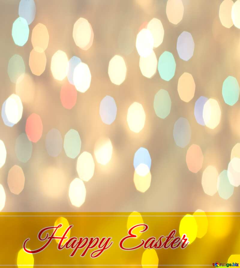Inscription Happy Easter colorful  background №49668