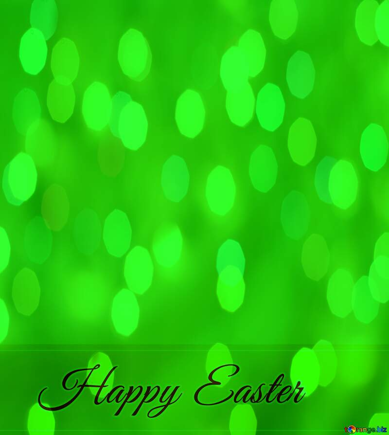 Inscription Happy Easter green background №49668