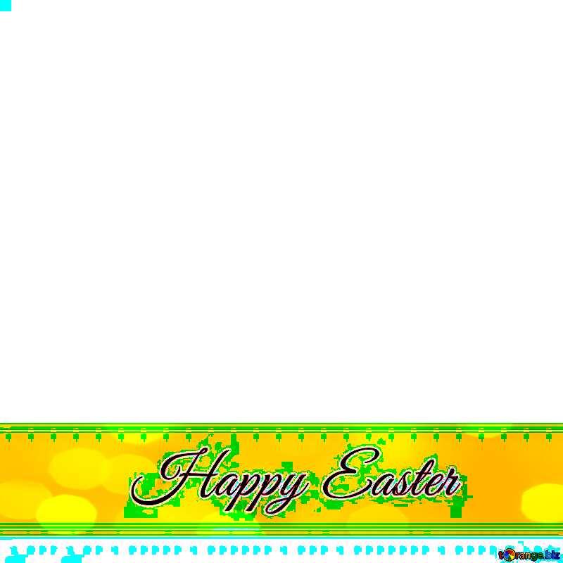 Inscription Happy Easter on greenribbon №49668