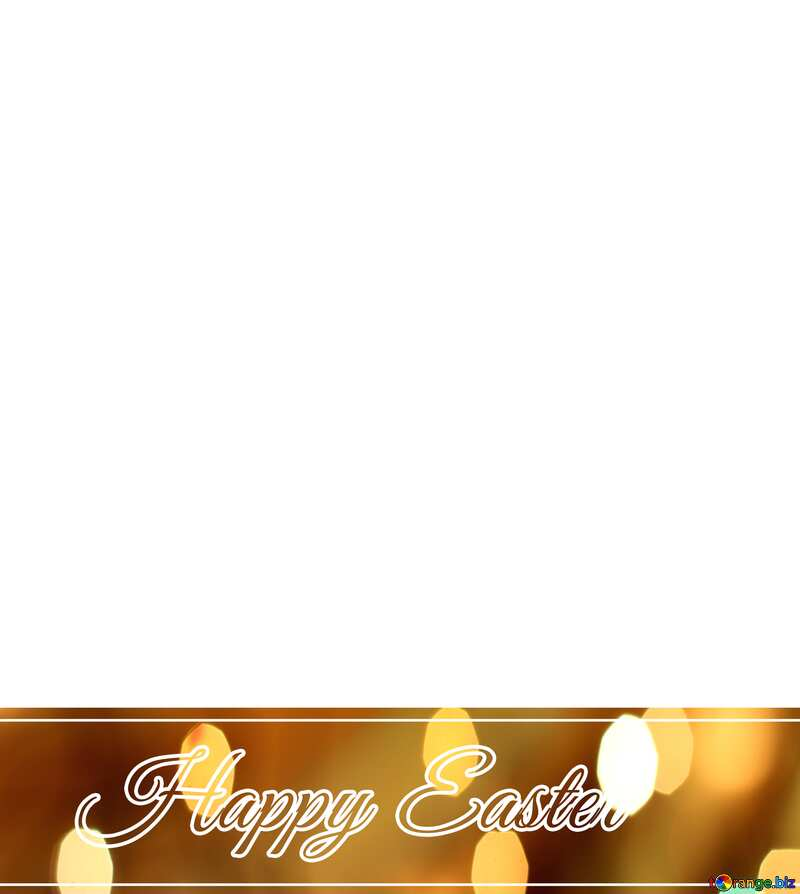 Inscription Happy Easter overlay bokeh background №49668