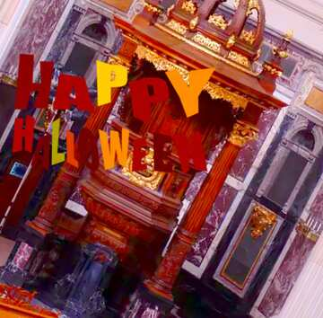 The effect of the mirror. The effect of hard light. Very Vivid Colours. Fragment. Happy halloween.