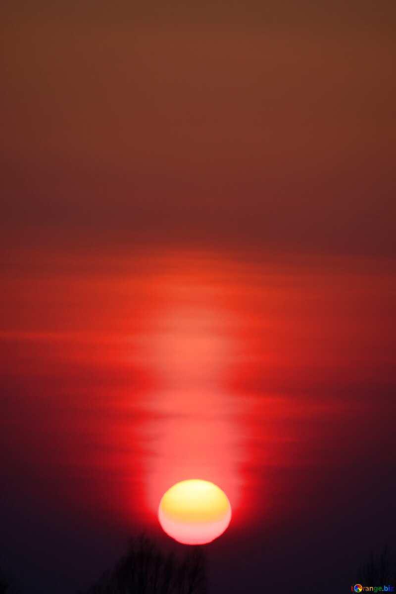 Beige color. Red Sunset. Background.. №1334