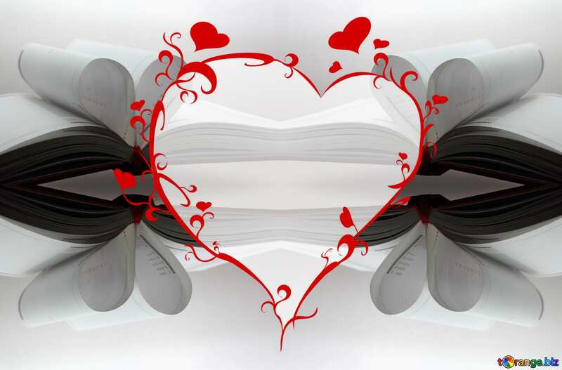 The best image. Book heart. №16073
