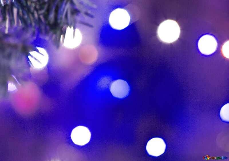 Blaue Farbe. Weihnachtsbaum. №15316