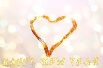 The effect of the mirror. The effect of hard light. Very Vivid Colours. Card with text Happy New Year.