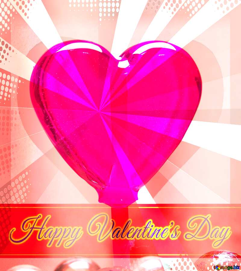 Candy Greeting card for Happy Valentine`s Day №17437