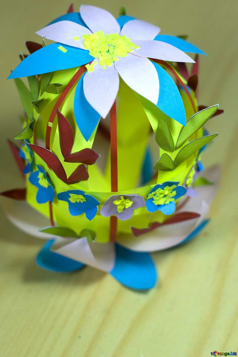 Easter crafts from paper Happy Easter pink lettering №12269
