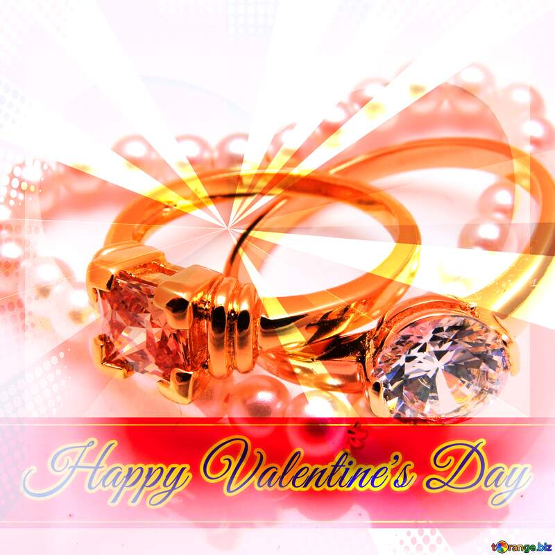 Greeting for Happy Valentine`s Day with Jewelry №18273