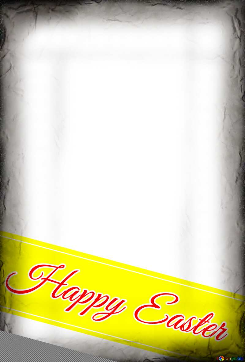 Happy Easter card on dark frame №49668