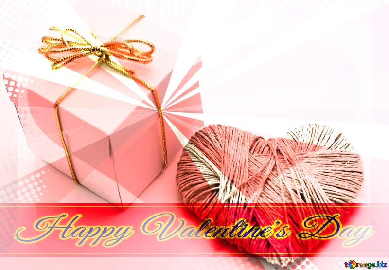 A love gift Greeting card retro style background Lettering Happy Valentine`s Day №16364