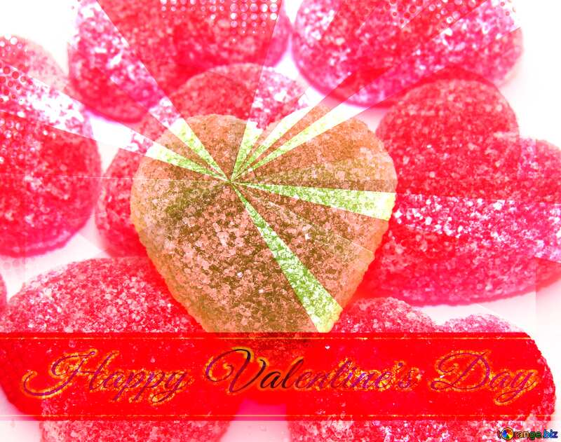Other heart Greeting card retro style background Lettering Happy Valentine`s Day №18452