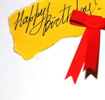 Hand written Calligraphy text Happy Birthday