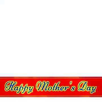 Red ribon with Lettering Happy Mothers Day