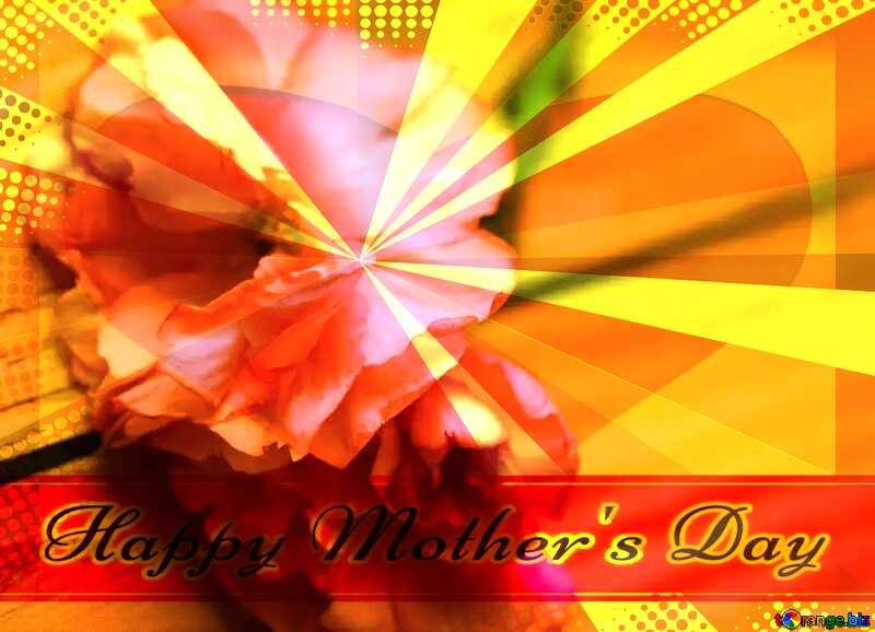 Sakura flowers on a background of wood Creating card for  Happy Mother`s Day background with heart and rays №48616