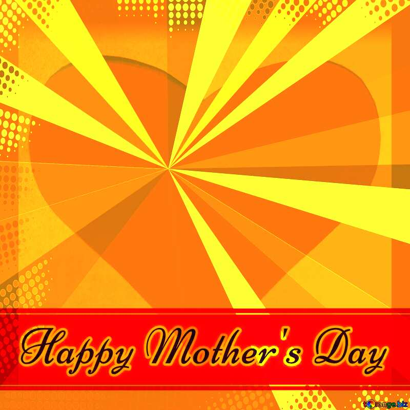 Creating card for  Happy Mother`s Day background with heart and rays №49670