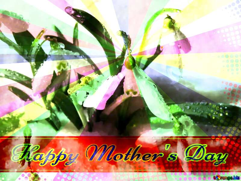 Early spring wallpaper Retro style card for Happy Mother`s Day with Colors rays №38378