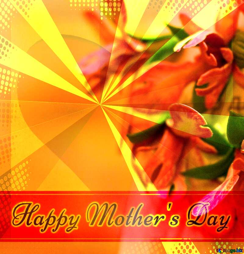 Iris flower Creating card for  Happy Mother`s Day background with heart and rays №48633