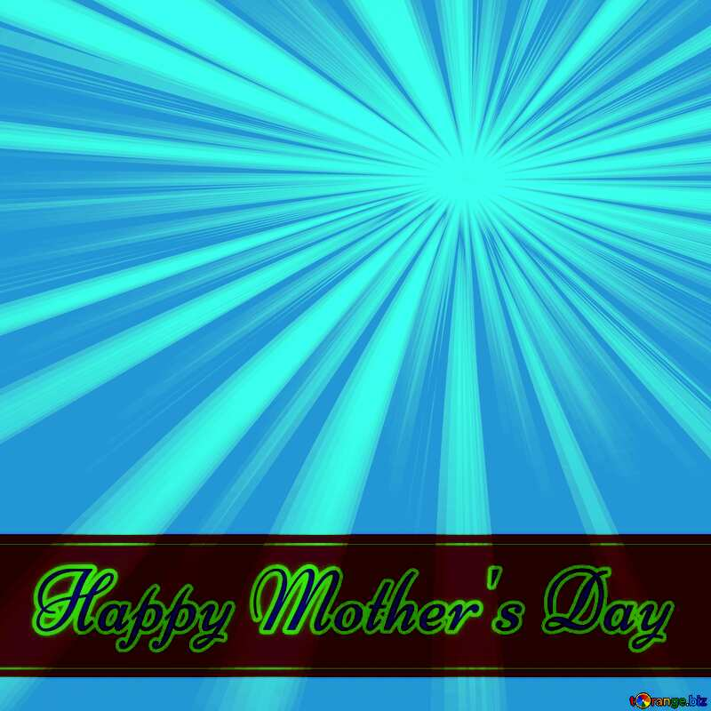 Lettering Happy Mother`s Day overlay Rays of sunlight №49670