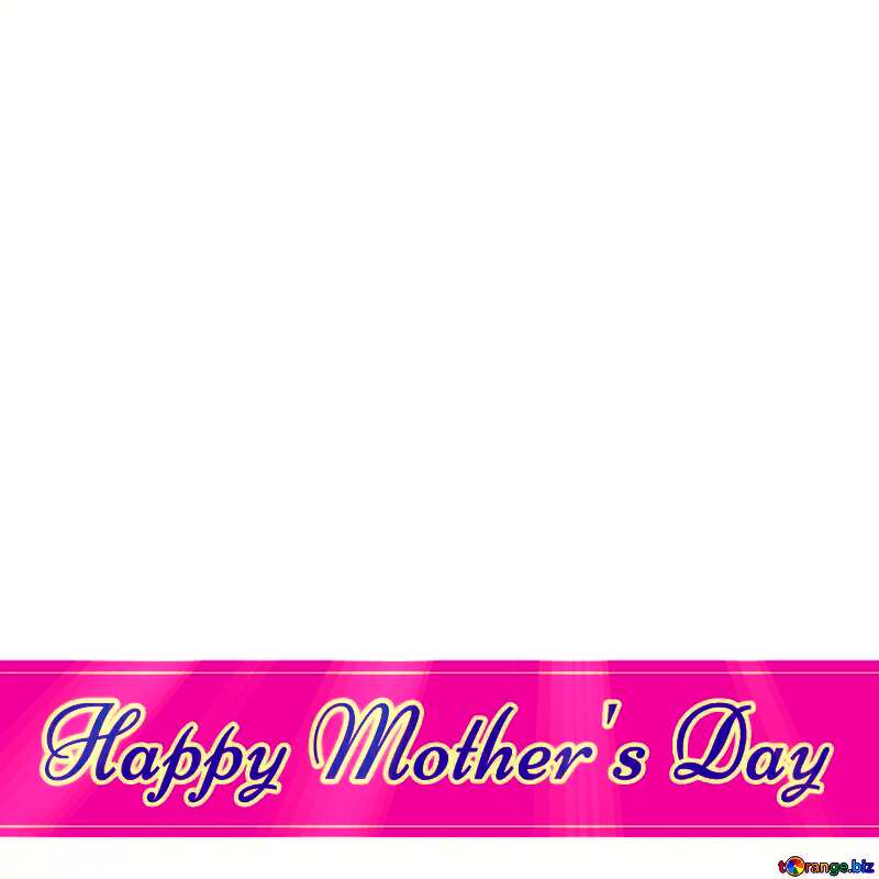 Pink Lettering Happy Mother`s Day Card №49670