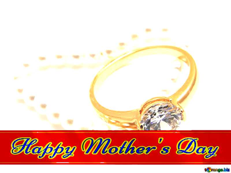 Ring as gift Red ribon with Lettering Happy Mothers Day №18275