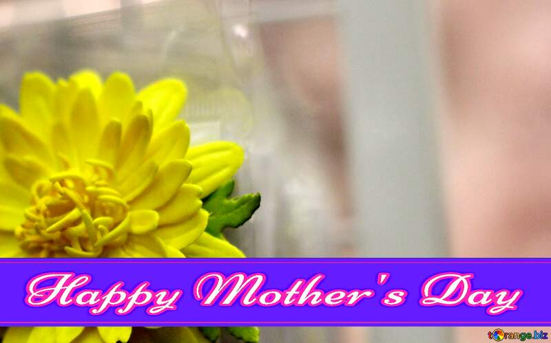 Yellow flower Pretty Lettering Happy Mothers Day №48635