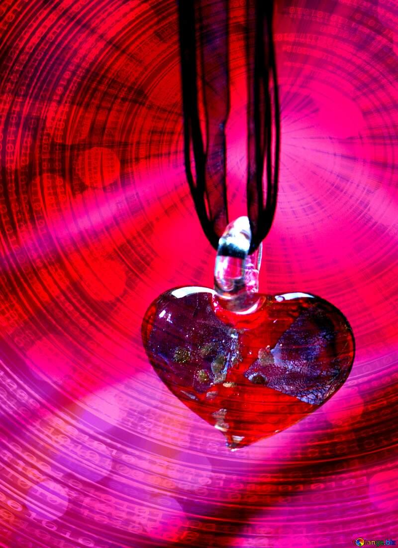 Love card background Digital Binary data  bokeh background №17625