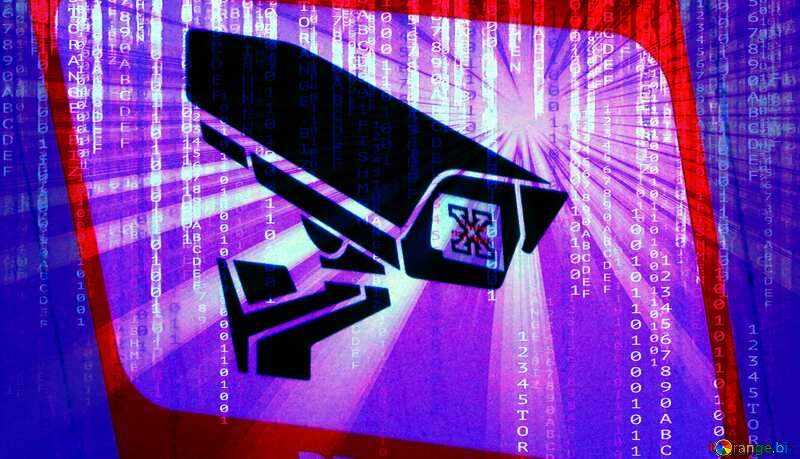 Big brother is watching you video surveillance digital background №48501