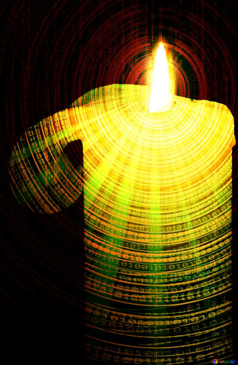 Candle Technology Futuristic background №6177