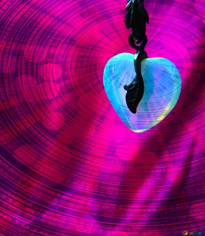 Creating Card for beloved moonstone heart Digital Binary data  bokeh background №17515