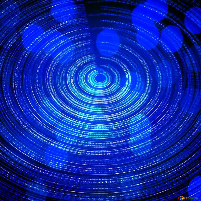 Dark blue Digital Futuristic background №49672
