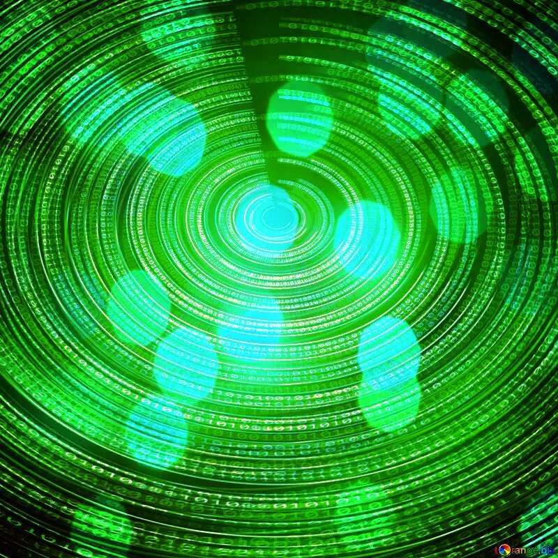 Green Digital Futuristic background №49672
