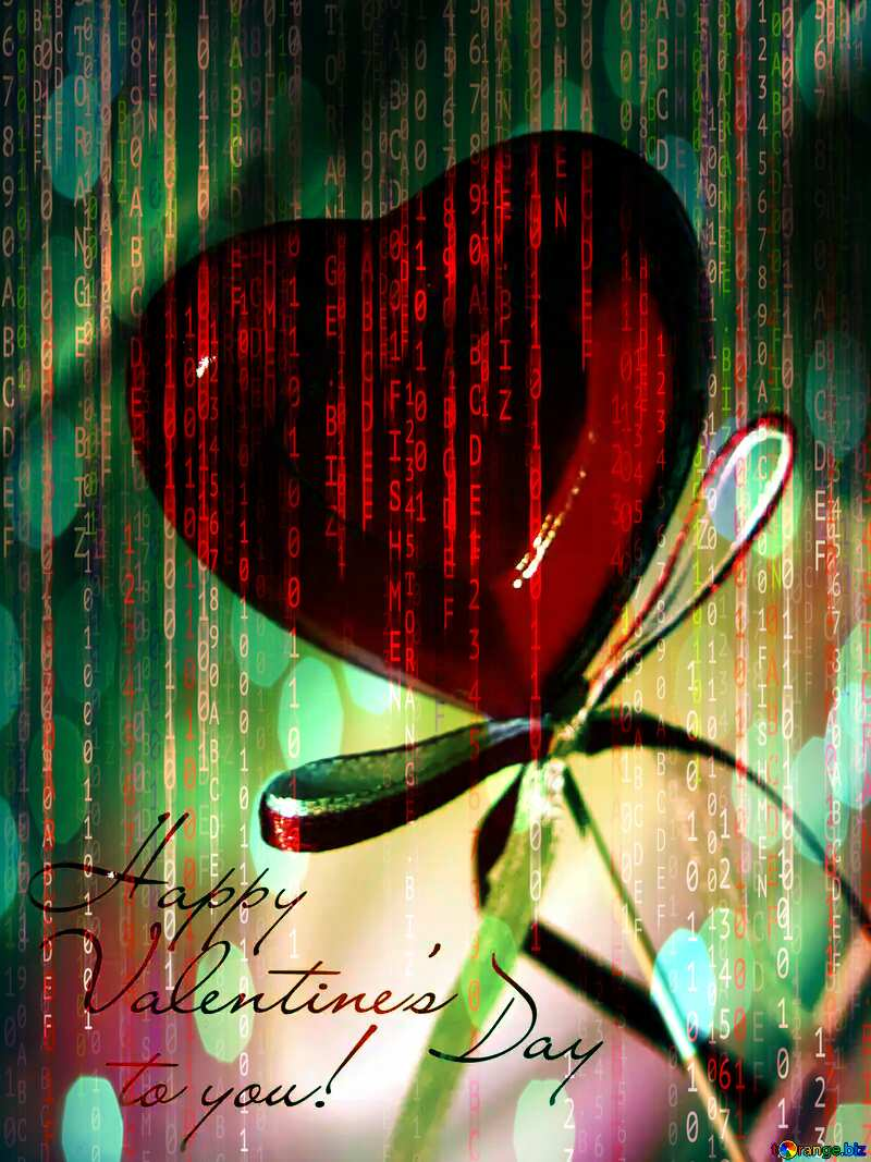 Greeting Card Happy Valentine`s Digital holiday background №3685