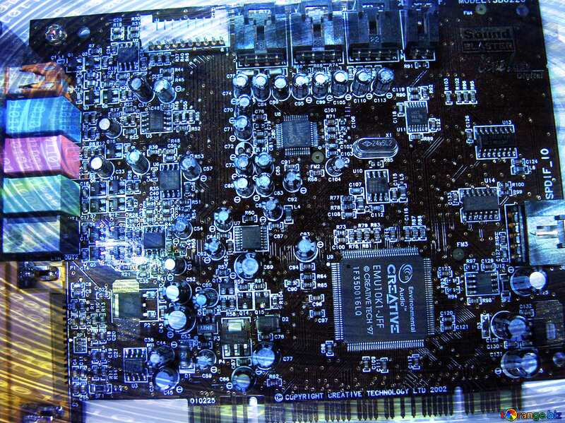 Sound Card Digital Binary data  background №665