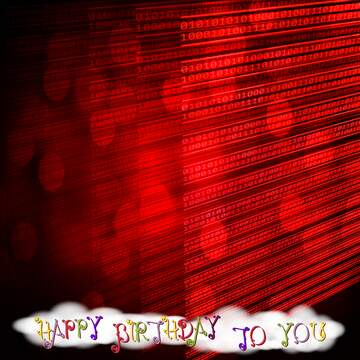 The effect of light. Happy Birthday card.