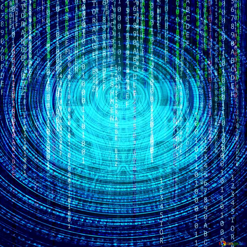 Digital enterprise matrix style background Deep blue Futuristic digital background №49671