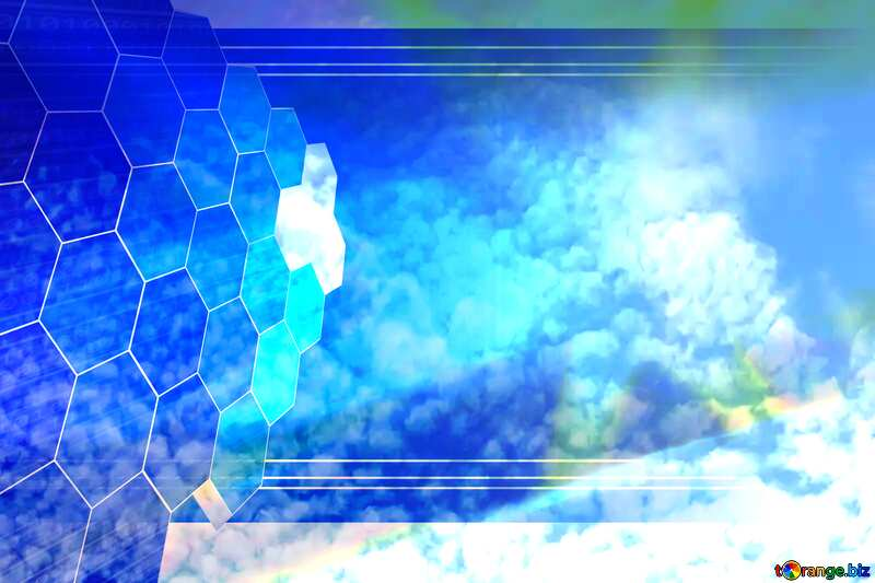 Beautiful clouds in the blue sky Tech business information concept image for presentation №39298