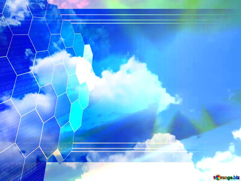Cloudy sky Tech business information concept image for presentation №31603
