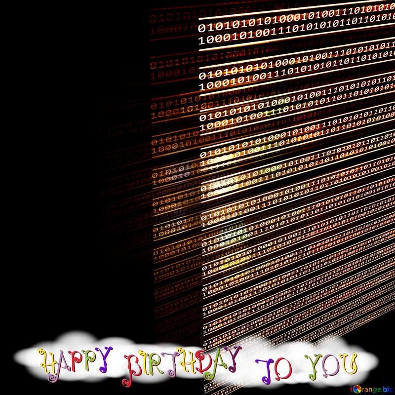 Dark Happy birthday card for programmer  №49673
